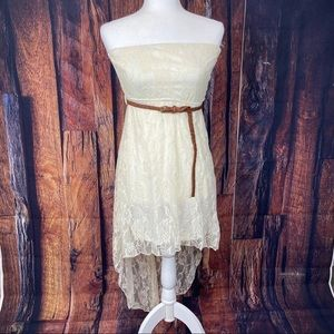 NWOT Rue21 Lace Strapless High Low Hi-lo Dress